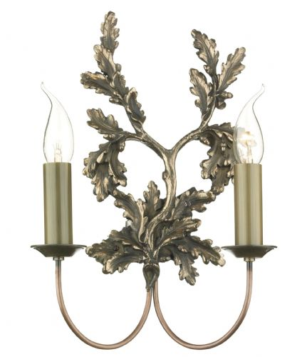 Leaf 2-light Bronze Finish Wall Light LEA0963